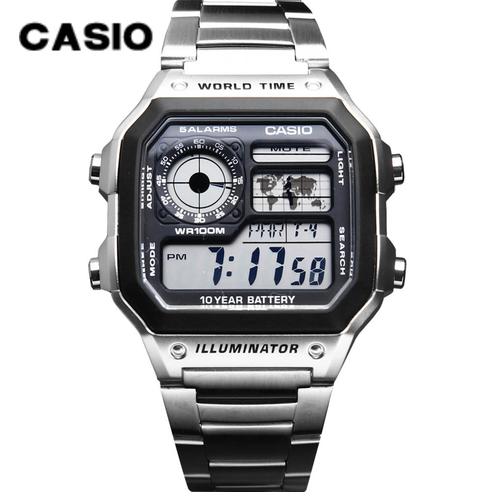 Часы CASIO AE-1200WH-1A 1200WHD 1200WHB-1B 3B часы casio collection 56735 ae 1200whd 1a grey page 11