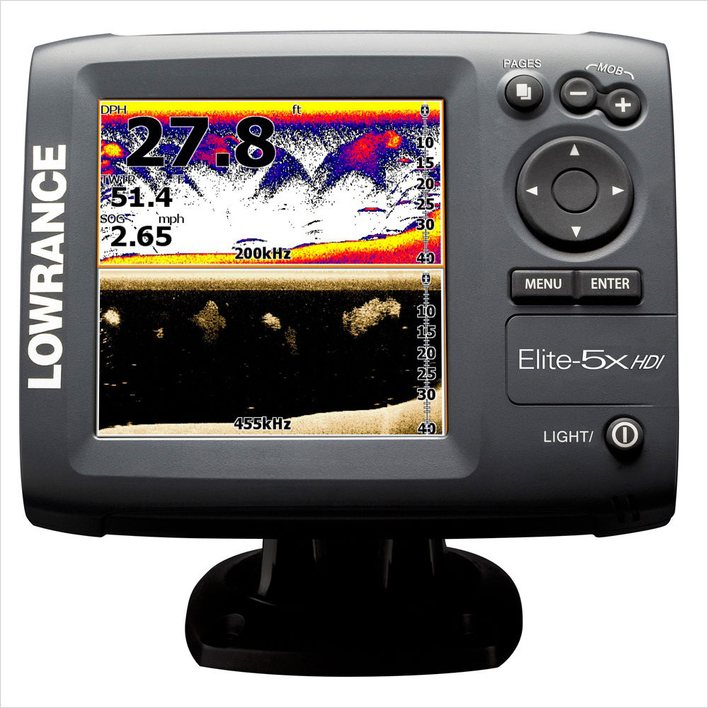 рыбопоисковый эхолот Lawrence 5X Lowrance Elite- HDI lawrence lowrance mark 5x pro dual fish finder chinese edition 5 inch