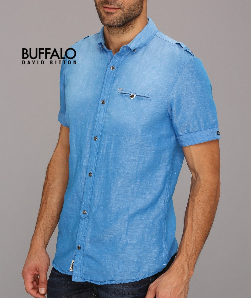 Рубашка мужская BUFFALO DAVID BITTON Sinta топ quelle buffalo 362687