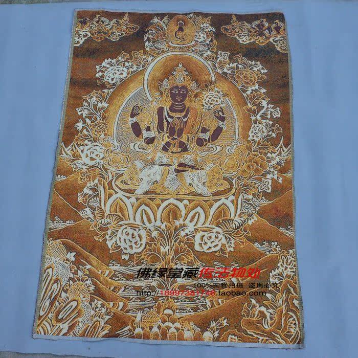 Тханка «Буддизм Холл» близость золото Шелковый машины подготовка Thangka подлинной Четырёхрукий богиня спец
