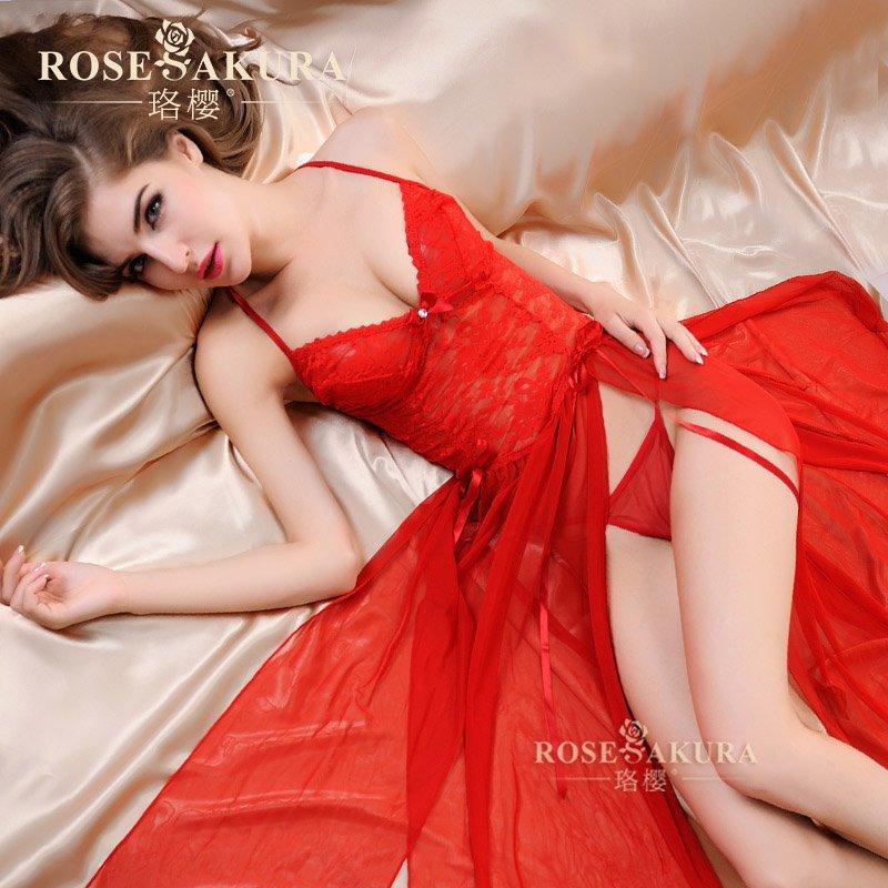 Комплект эротического нижнего белья Luo Ying бдсм маски цвет красный