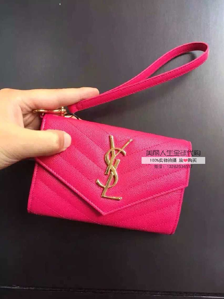 бумажник Yves Saint Laurent  6.17 YSL 15 Logo бумажник yves saint laurent 314995 bj50j ysl saint laurent 314995bj50j