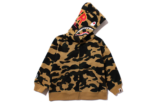 Толстовка детская BAPE KIDS 1ST CAMO SHARK толстовка a bathing ape bape heelo kitty camo shark kitty