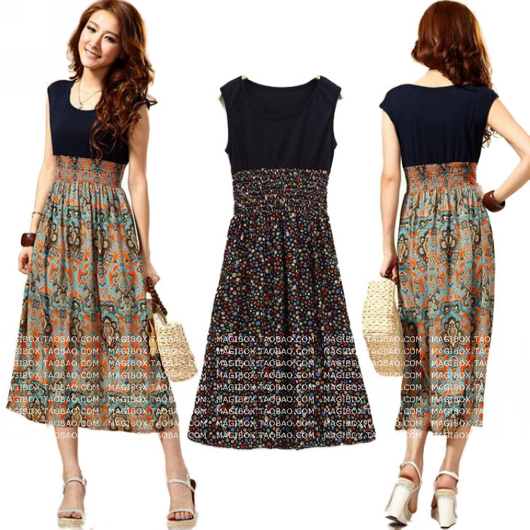 Женское платье   C564 Women Summer Print Long Dress2014dresses женское платье c564 women summer print long dress2014dresses
