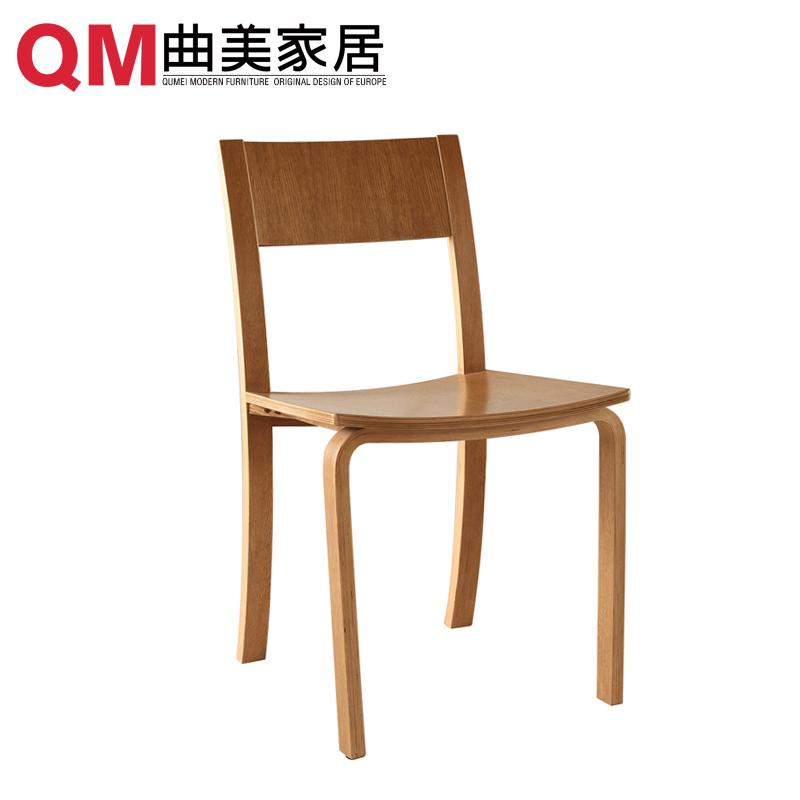 曲美家具环保实木餐椅2005D-10