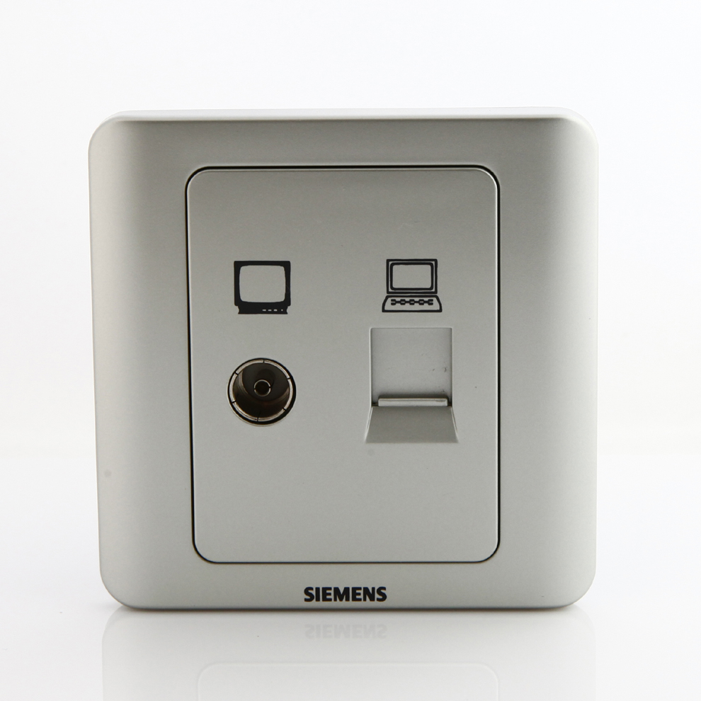 Розетка Siemens  5TG0116-1CC122 вытяжка siemens lc91kww20