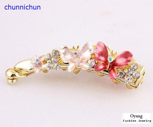 Аксессуары Lovely Jewelry Crystal Butterfly Hair Clips For Hair Clip minnie mouse ears baby girl hair clip children clips accessories kids cute hairclip for girls hairpins hair clips pins menina