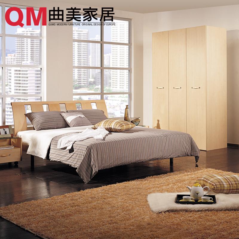 曲美家具木质三门衣柜QM051WG6002-1