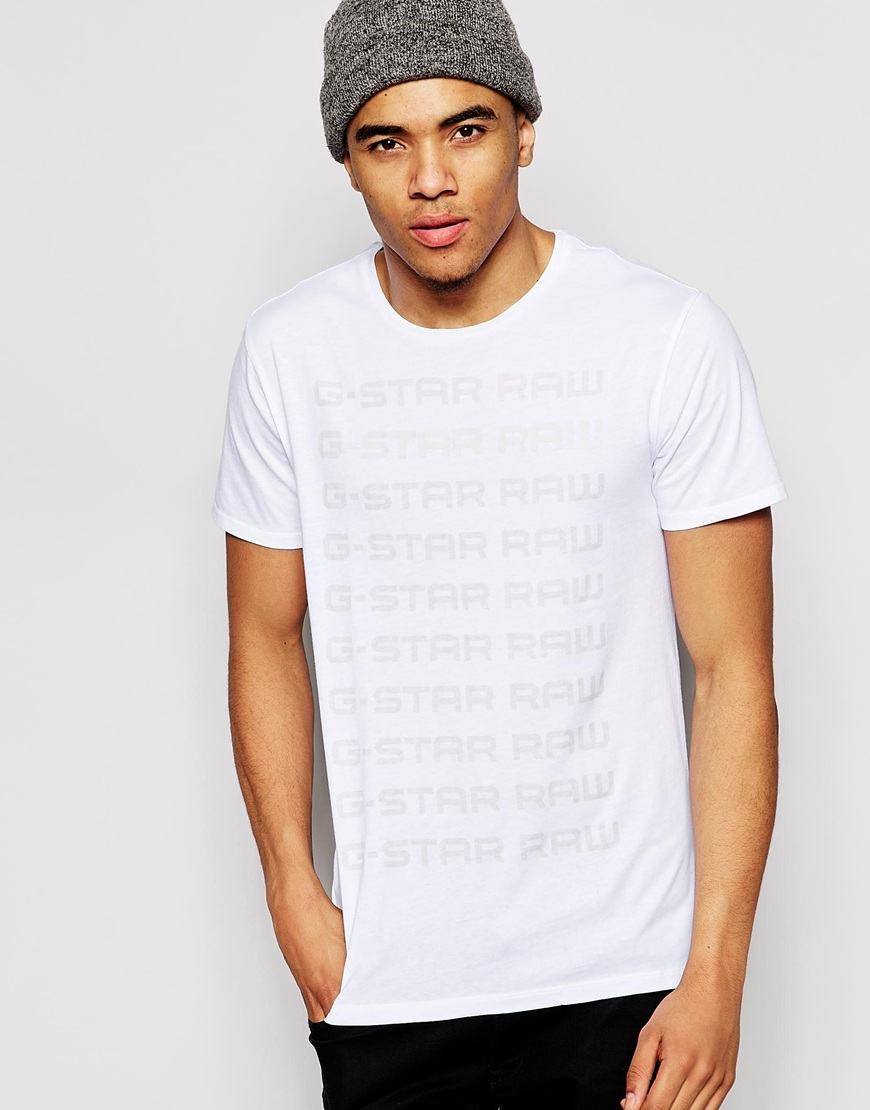 Футболка мужская G/star raw 592168 GS/G Star Raw Logo рубашка мужская g star raw 574590 gs g star