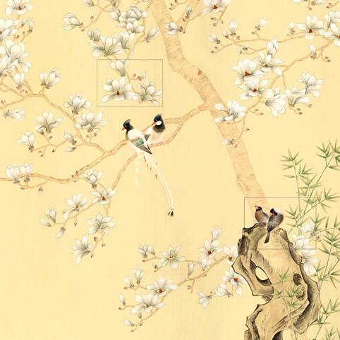 玉兰墙纸  屏风壁纸国色天香NVH15990201