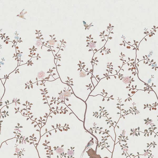 玉兰墙纸 诗情画意 手绘金箔壁画NVC214201