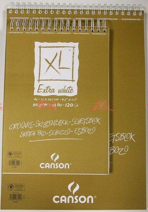sketchBOOK Canson canson XL A3 A4 90g 120 paris sketchbook jason brooks