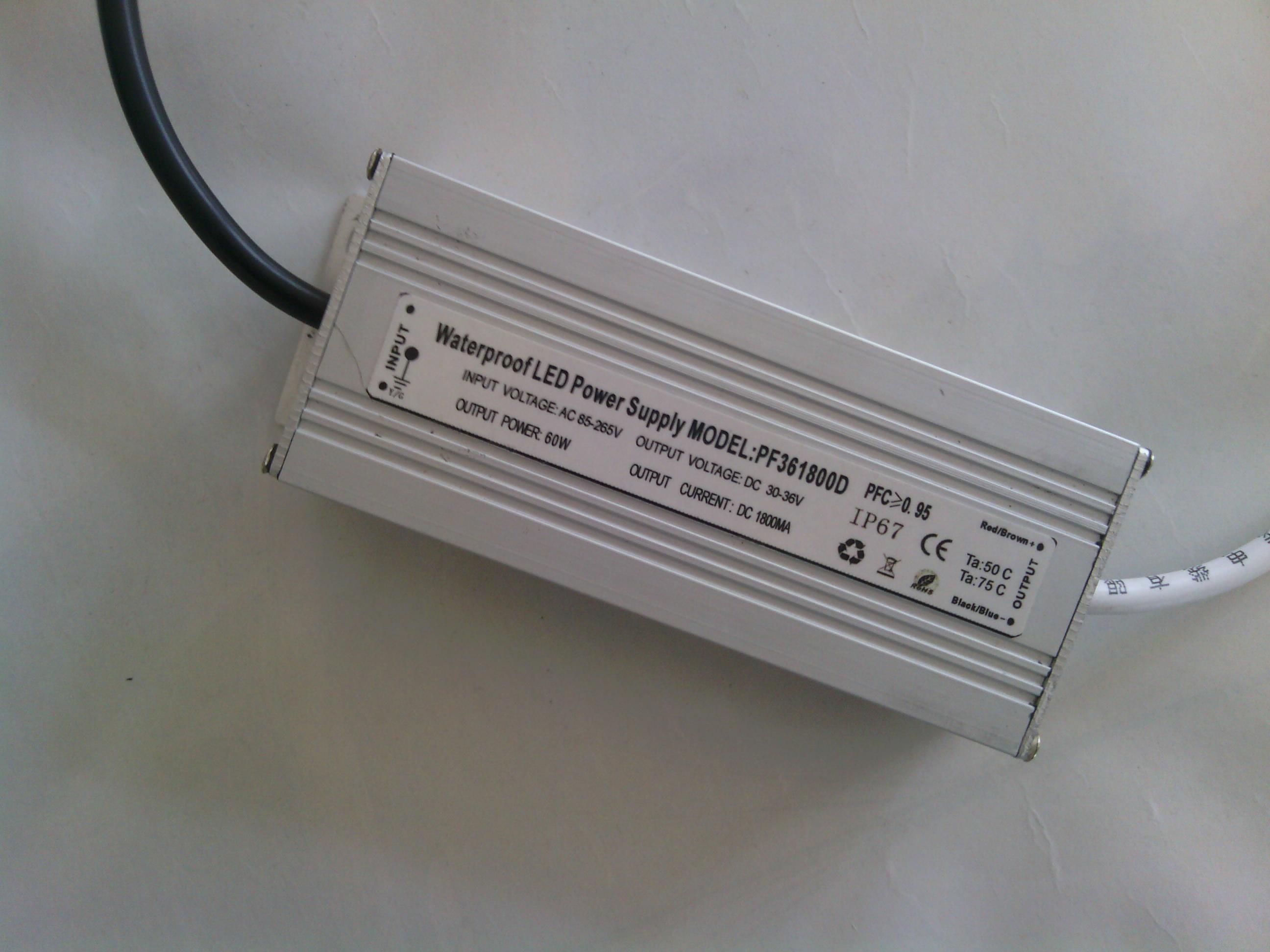 Источник питания для LED   50W 10 LED 36V1500MA