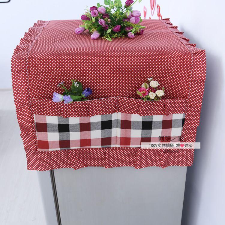 Скатерть Пост загрузки холодильник полотенце Холодильник Холодильник Обложка хранения сумки Микроволновая капот крышка полотенце полотенце
