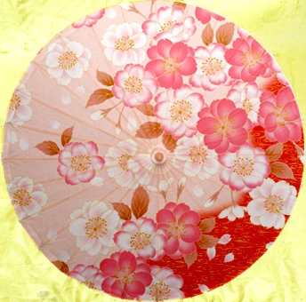 Декоративный зонтик Paper umbrella dia 84cm camellia with double butterfly parasol classic chinese handmade umbrella dance decoration gift oiled paper umbrella