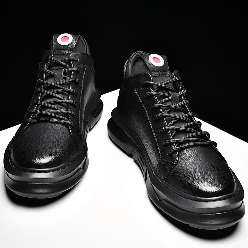 男士板鞋男韩版潮流男鞋春季潮鞋2019新款休闲鞋运动皮鞋真皮鞋子