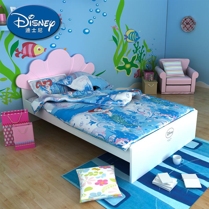 酷漫居迪士尼儿童床 人鱼公主
