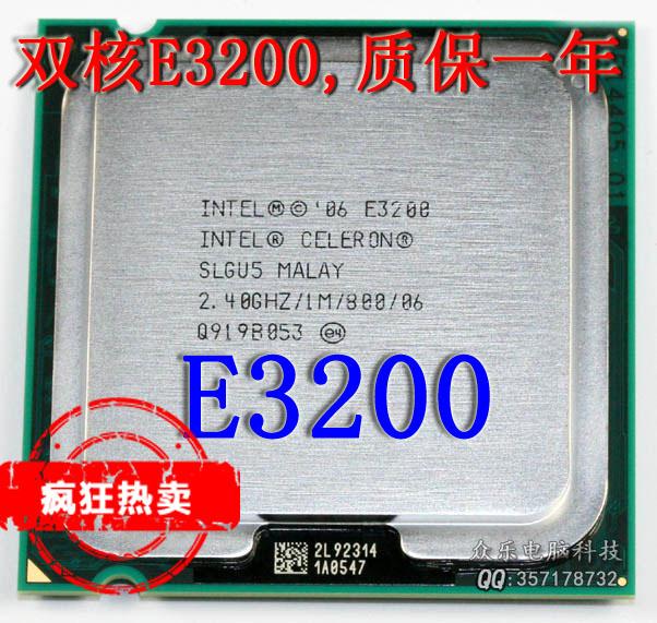 Процессор Intel  E3200 Celeron Dual-Core 2.4G 775 процессор intel celeron g1610