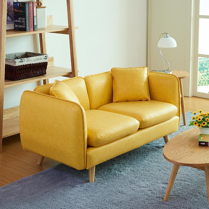 北欧小户型单人双人三人皮沙发简约现代时尚客厅办公皮质沙发组合