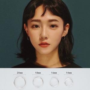 純銀小巧圓圈款耳環女耳圈韓國氣質簡約網紅冷淡風耳釘耳墜耳飾男