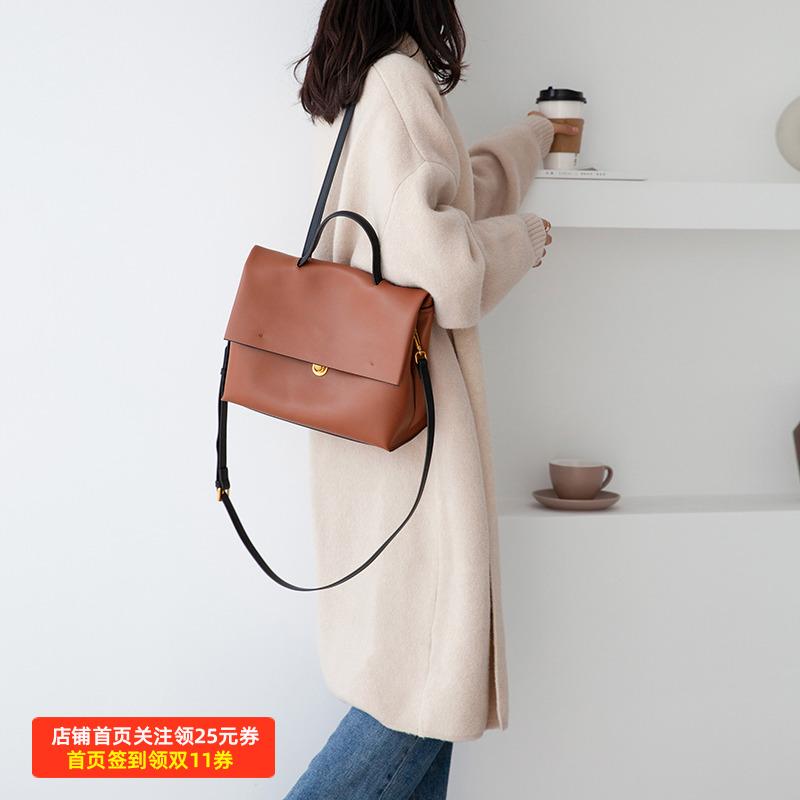 高级感大包简约女包手提包单肩斜挎包女2020新款通勤英伦邮差包女