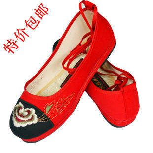 туфли 2 double pack email specials 8020 women mary janes chinese embroidered flower flat shoes linen loafers