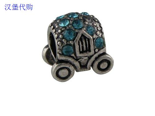 Сувенир   Cinderella Blue Carriage Pandora Style Bead Fit Trollbeads roomble табурет cinderella
