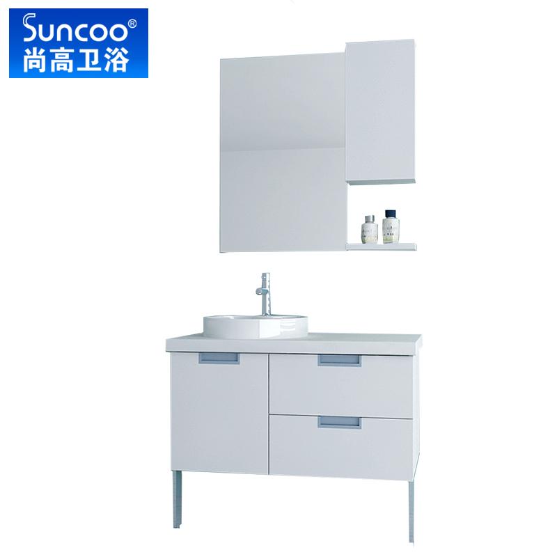 Suncoo尚高卫浴 浴室柜组合 面盆 洗手盆柜组合 落地 西伯220-1