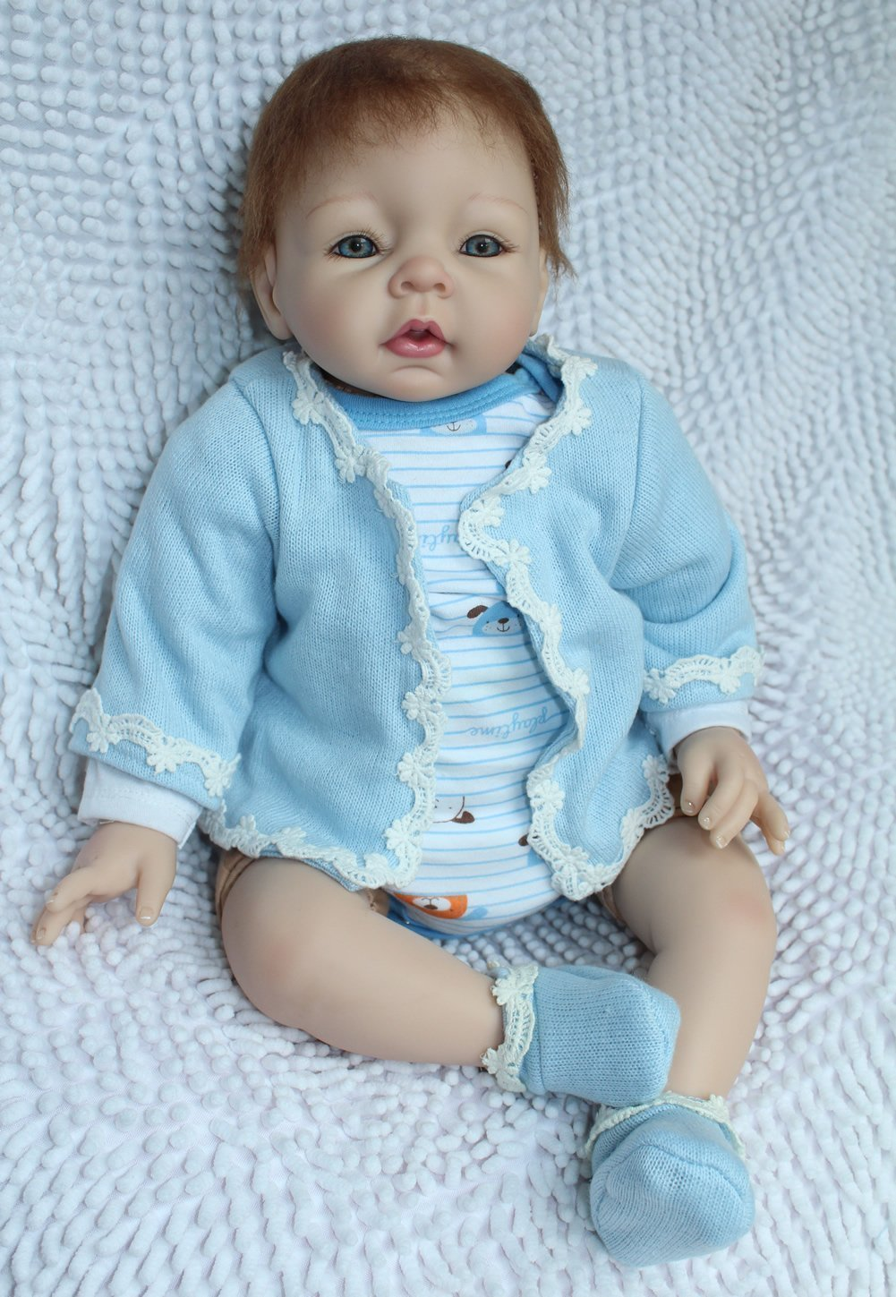 кукла USA Reborn Baby Dolls 22 hot 17inch soft silicone reborn dolls toys 45cm lifelike girl baby dolls newborn reborn doll brinquedos for birthday gift