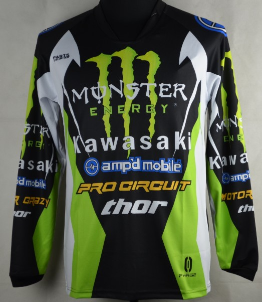 Мото футболка Kawasaki  MONSTER ENERGY THOR