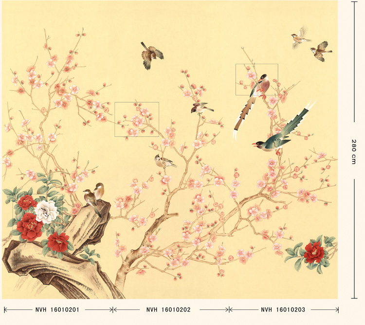 玉兰墙纸 壁纸国色天香NVH16010201