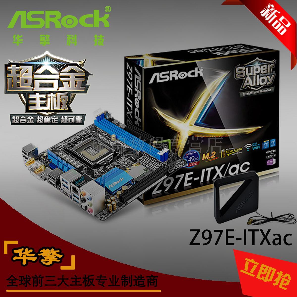 Материнская плата Asrock  Z97E-ITX/AC Mini ITX HTPC материнская плата asrock b150m pro4s s1151 b150 matx