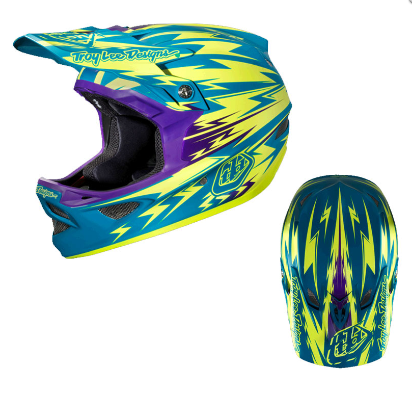 велошлем Troy Lee Designs D3 Tld Thunder CF