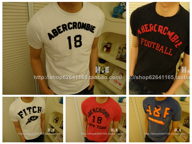 Футболка мужская Abercrombie & fitch  Abercrombie AF glare 30
