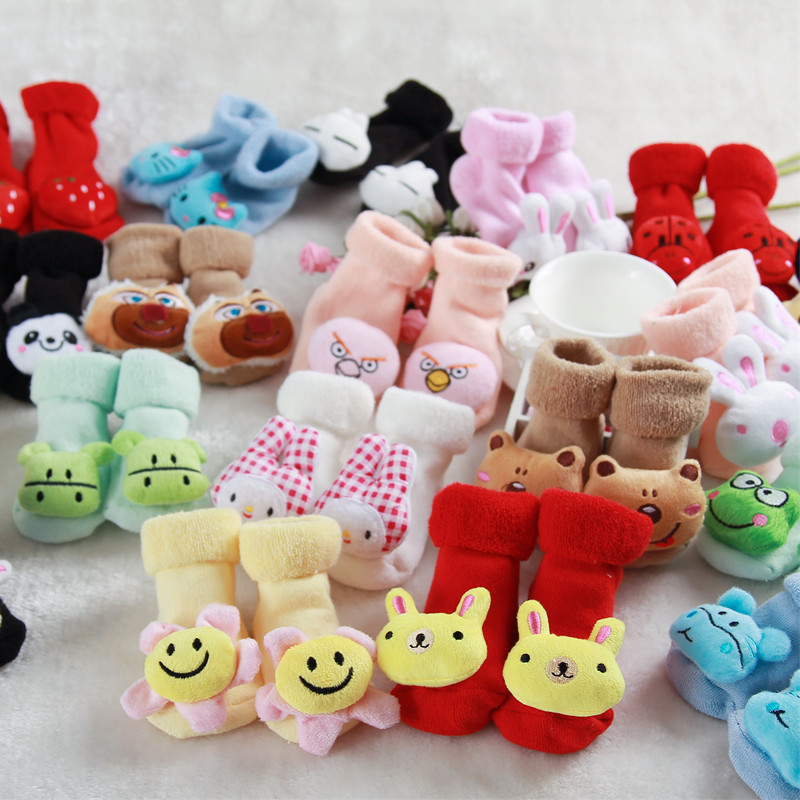 婴儿加厚毛圈防滑袜