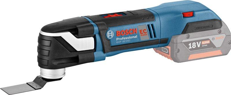 Пила Bosch  GOP18V-EC набор bosch дрель аккумуляторная gsb 18 v ec 0 601 9e9 100 адаптер gaa 18v 24