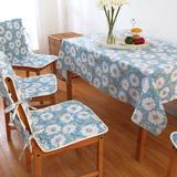 桌布餐桌布韩式台布小清新形茶几布连体椅套椅垫盖布餐桌布