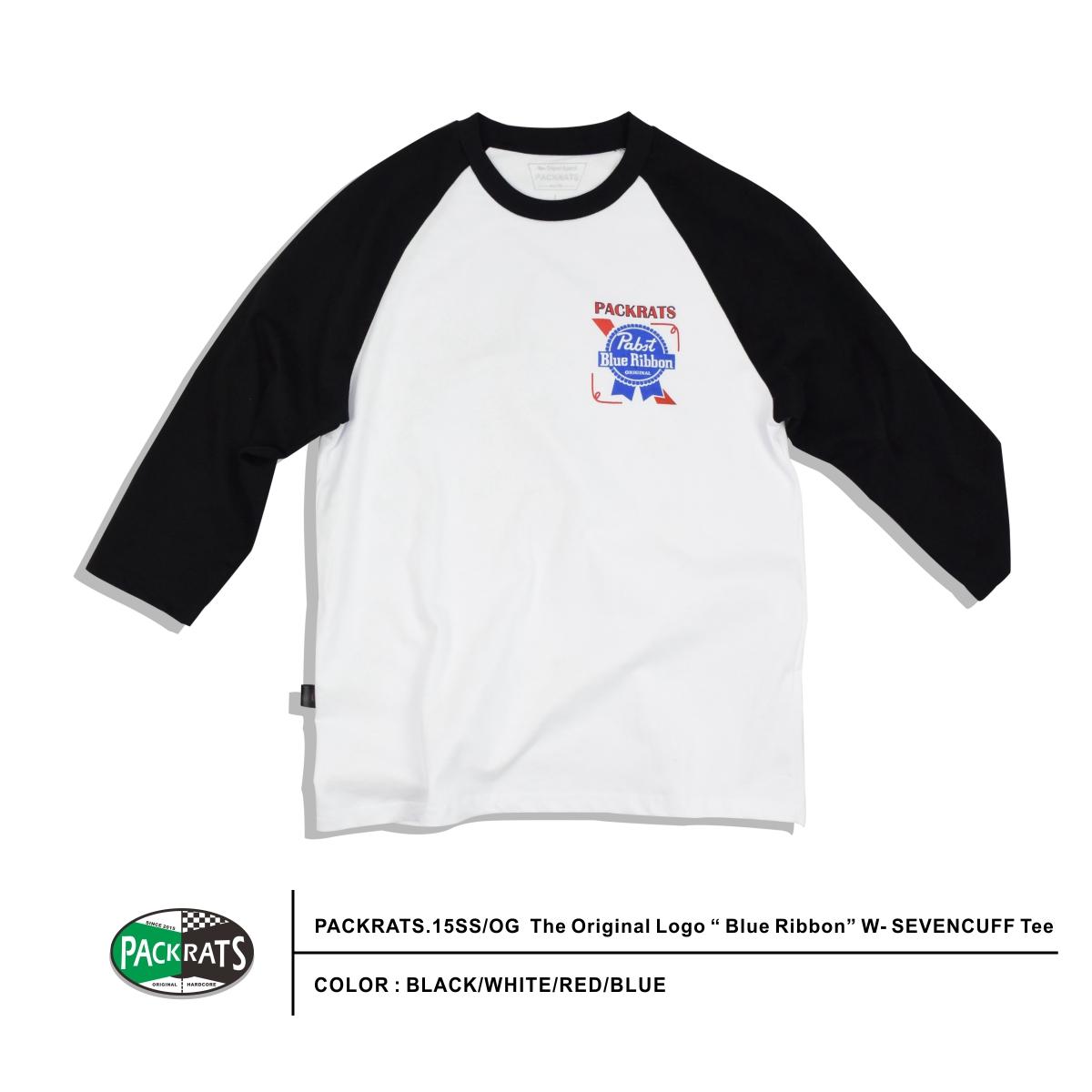 Футболка мужская Packrats Packrats 2015ss/og t4 .15SS/OG The Original Logo Blue Ribbon W- SEVEN cheap original evolis r2012 blue monochrome ribbon
