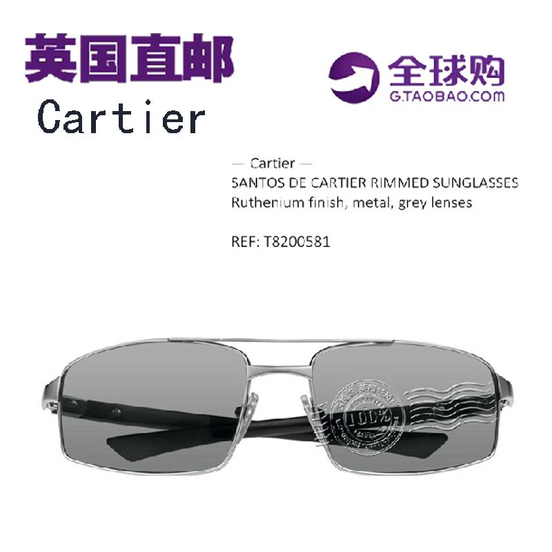 Солнцезащитные очки Cartier  SANTOS DE T8200581 cartier часы cartier w69005z2