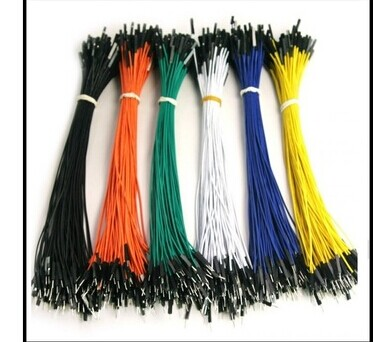 Разъём 1P-1P 20cm (100 40pcs in row dupont cable 20cm 2 54mm 1pin 1p 1p female to male jumper wire for