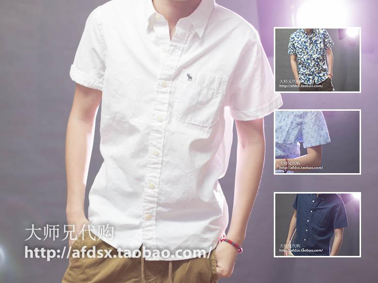 Рубашка мужская Abercrombie & fitch  AF Abercrombie Fitch 2015 abercrombie