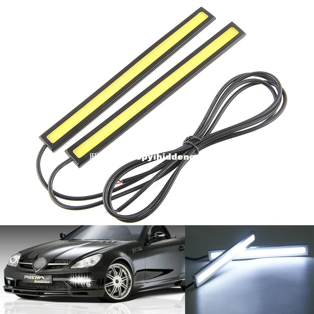 Декоративное полотенце 2x 17cm White 12V LED COB Car Auto Vehicle DRL Driving Dayti 2017 new 2 5 30w car angel eye cob halo ring led drl projector lens driving light 12v 24v drop shippping