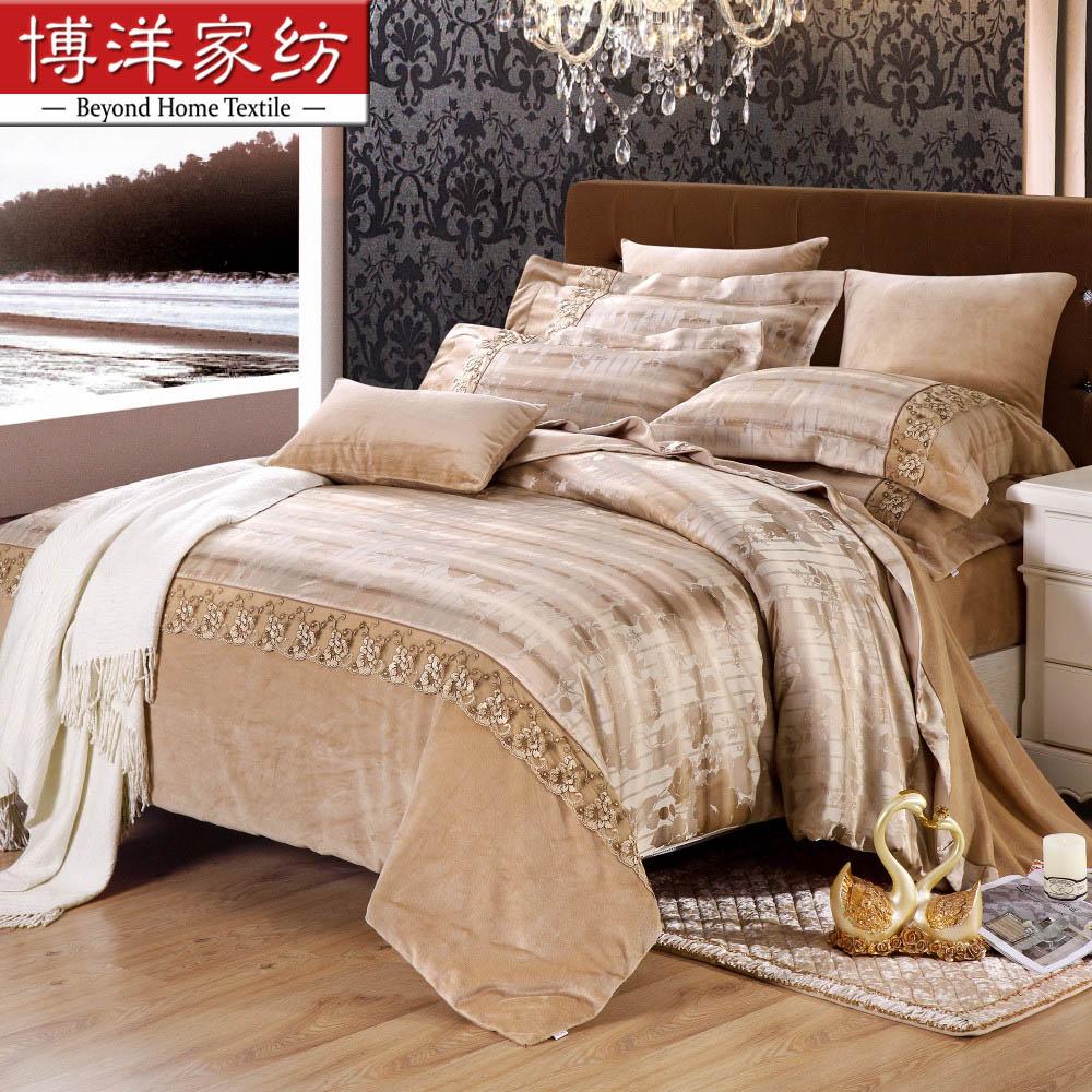 博洋家纺拉舍尔保暖床单四件套W91304090104
