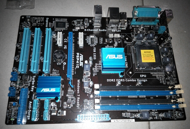 Фото Материнская плата ASUS P5P41C DDR2+DDR3 775 P43 P45 ytai for asus x401a x501a x301a laptop motherboard hm76 rev2 0 ddr3 pga989 mainboard 100% working