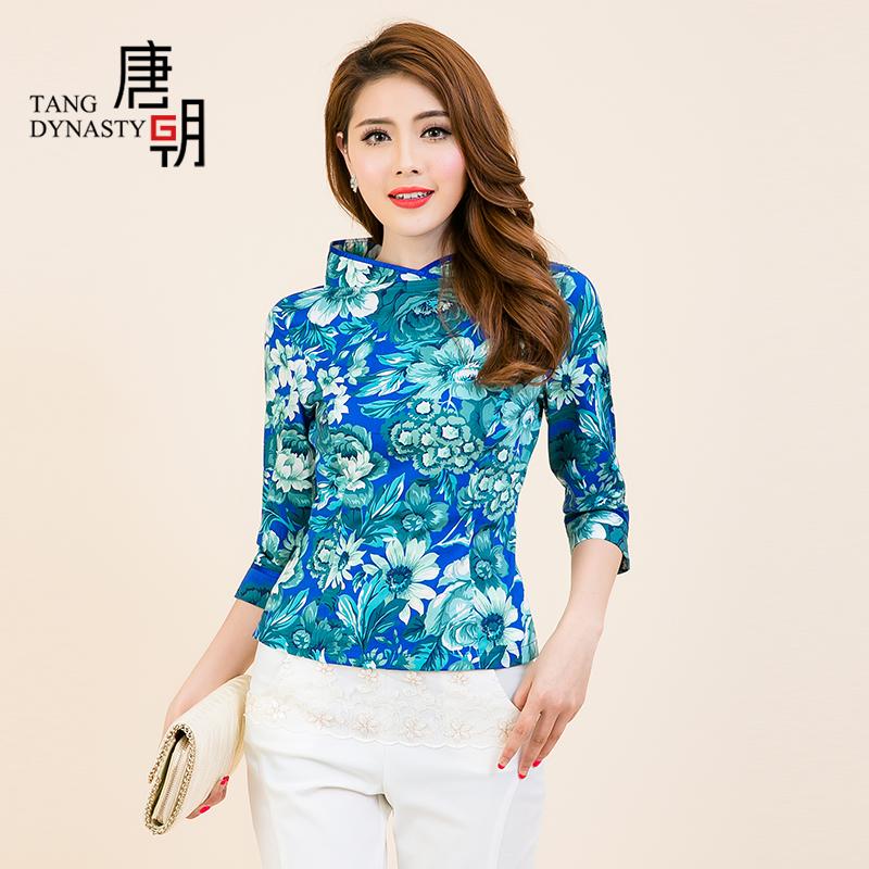Блузка в китайском национальном стиле Tang Dynasty tqa42280 2015 женский пуховик tang dynasty tdb30954 2014 90