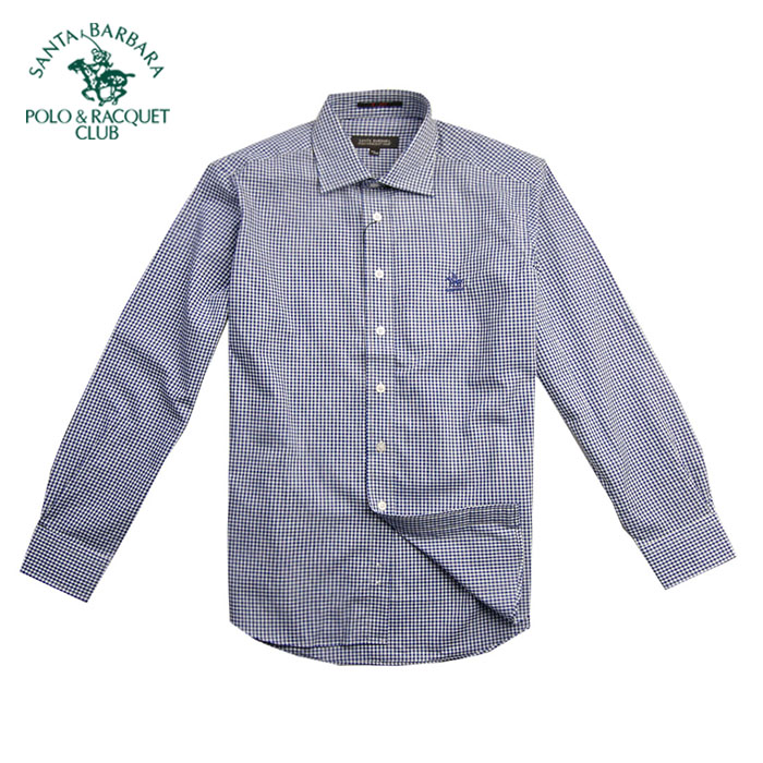 Рубашка мужская Santa Barbara, Polo & Racquet Club ps11wh010 POLO визитница santa barbara polo