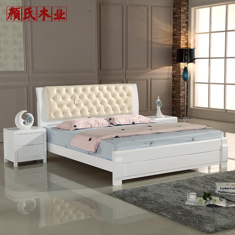 Кровать из массива дерева Jinhong State  1.8 кровать из массива дерева hoba life 1 8