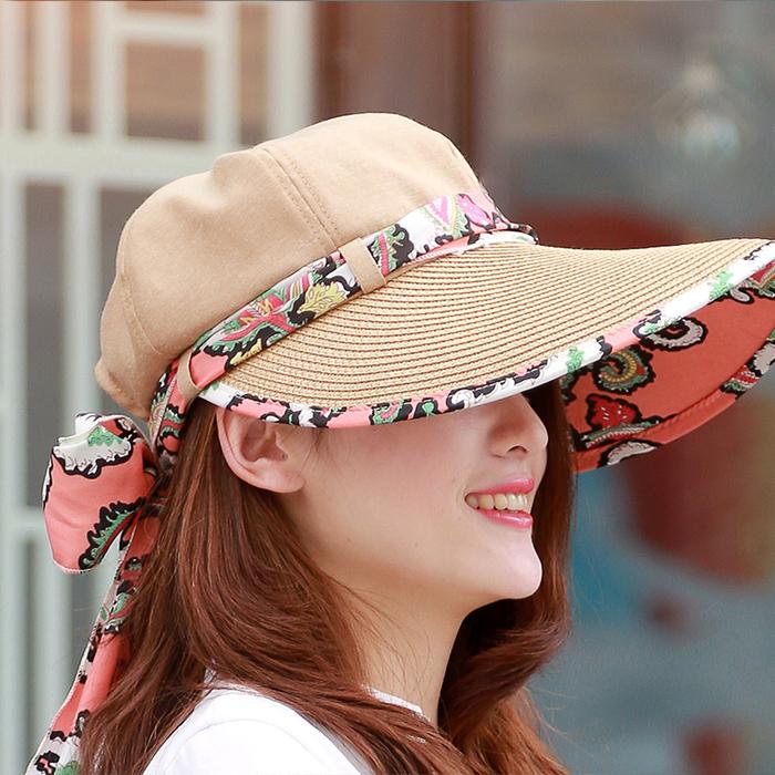 Головной убор MS Mail Beach Sun Sun Лян Мао УФ шляпы солнцезащитный крем может быть сложен в летом соломенная шляпа