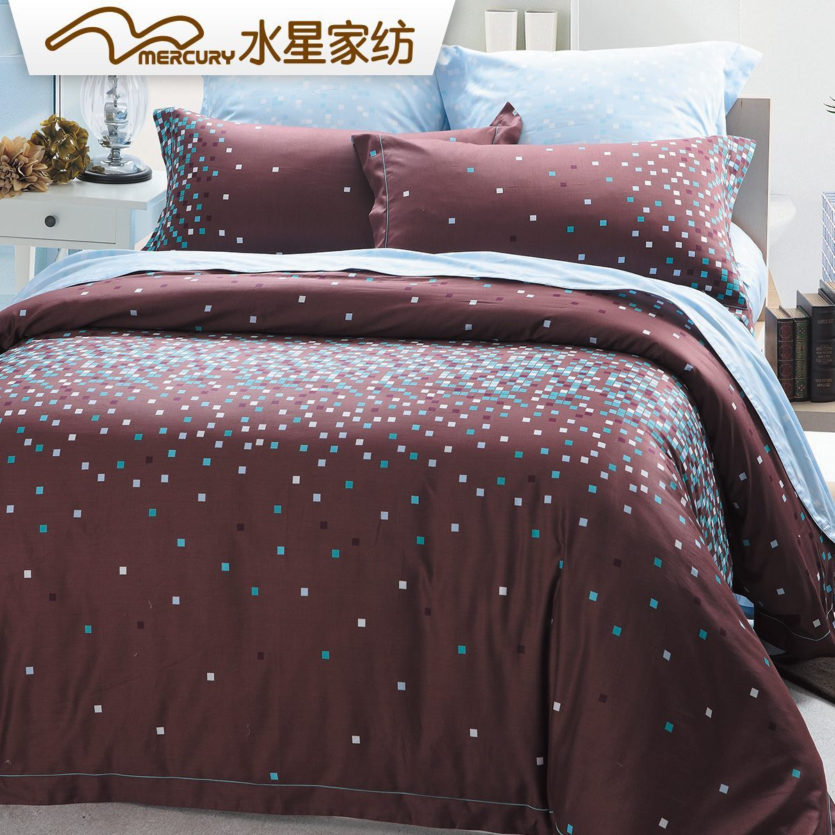 水星家纺男士床上用品四件套105519
