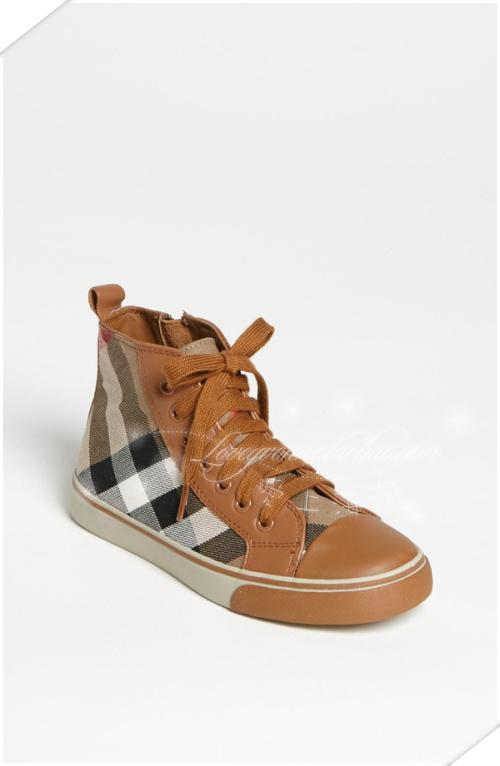 кеды детские Burberry  'Tom' High Top Sneaker burberry туалетная вода burberry sport 15 ml